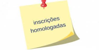 Inscrições homologadas
